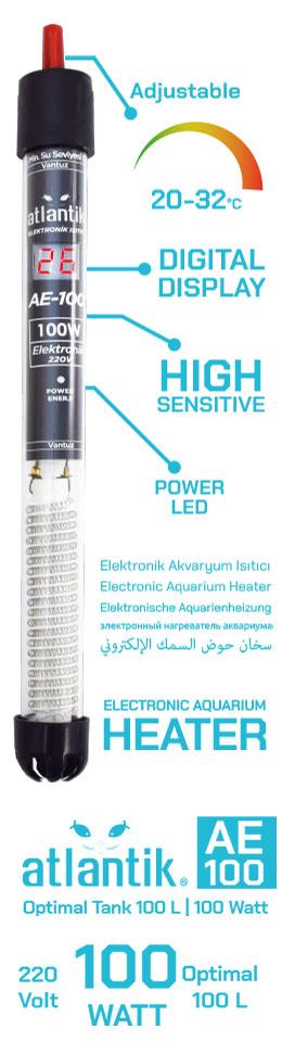 Atlantik Elektronik Isıtıcı 100 Watt