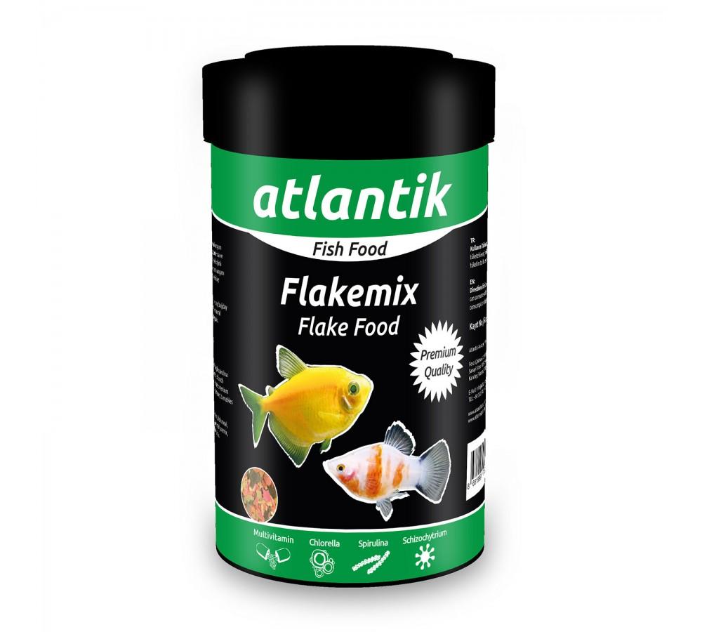 ATLANTİK FLAKE MİX FOOD 120 GR 1000 ML BALIK YEMİ