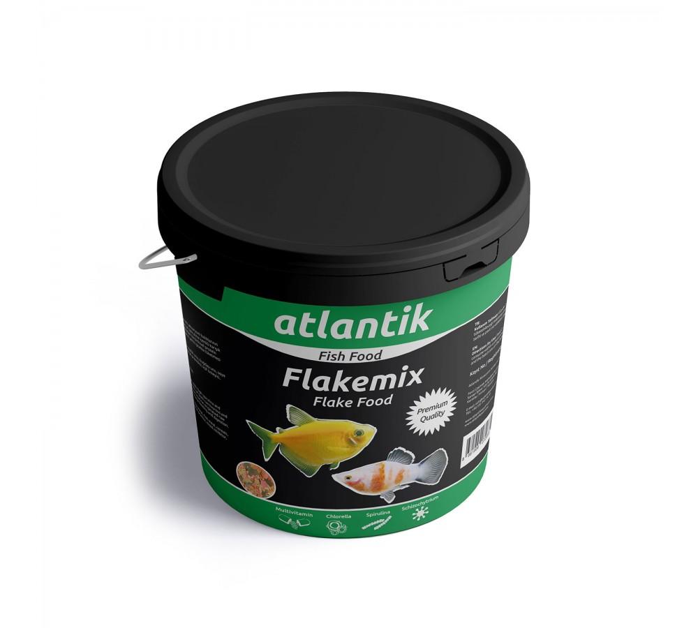 ATLANTİK FLAKE MİX FOOD 1000 GR KOVA BALIK YEMİ