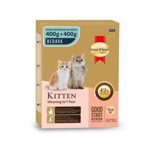 SHG KEDİ MAMASI GOLD DRY ADULT CAT FOOD KİTTEN 400 + 400 GR (12)